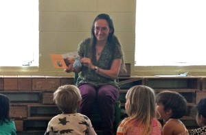 Karin reads My Amazing Day to preschoolers at El Cerrito Preschool Cooperative, May 16, 2014
